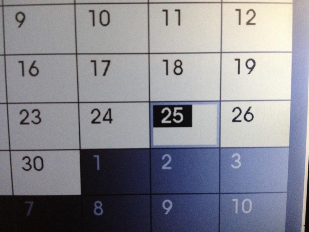 Pomera DM100 Calendar closeup