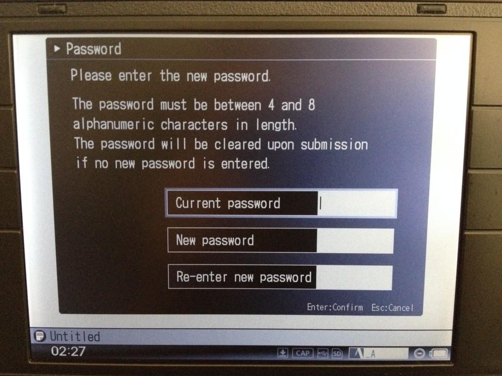 Pomera dm100 Password